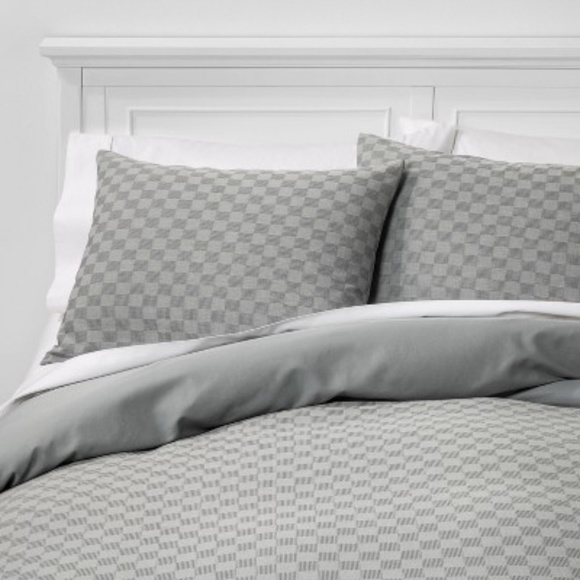Project 62 Check Woven Pillow King Sham Gray